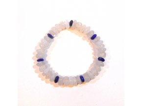 Náramek měsíční kámen a lapis lazuli