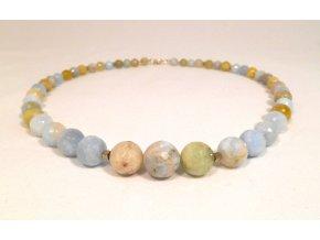 Akvamarínový náhrdelník a hematit