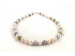 Perlový náhrdelník mix barev