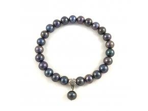 Náramek modrofialová perla