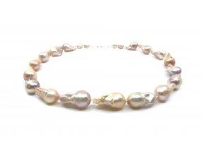 Perlový náhrdelník zlaté reborn perly