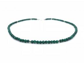 Malachitový náhrdelník malé kuličky