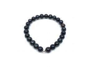 Perlový náramek černé perly