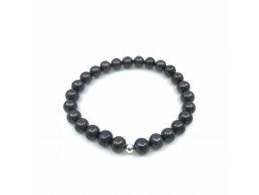 Perlový náramek tmavohnědé perly