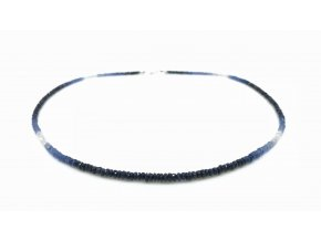 Modrobílý safírový náhrdelník
