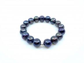 Perlový náramek hnědozelené perly