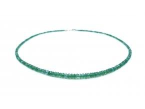 Smaragdový náhrdelník světlý