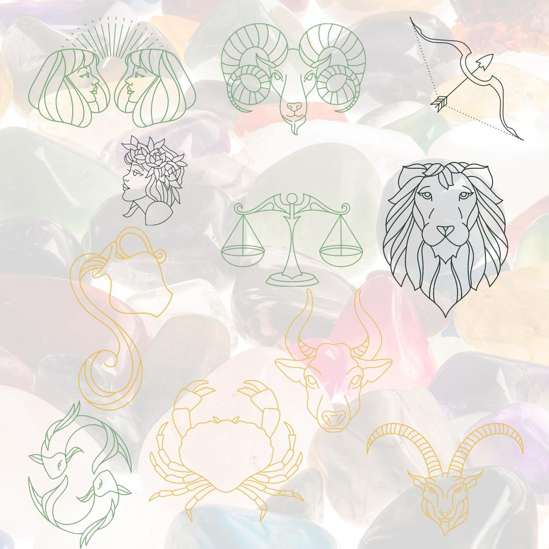 Znamení zvěrokruhu a přírodní kameny