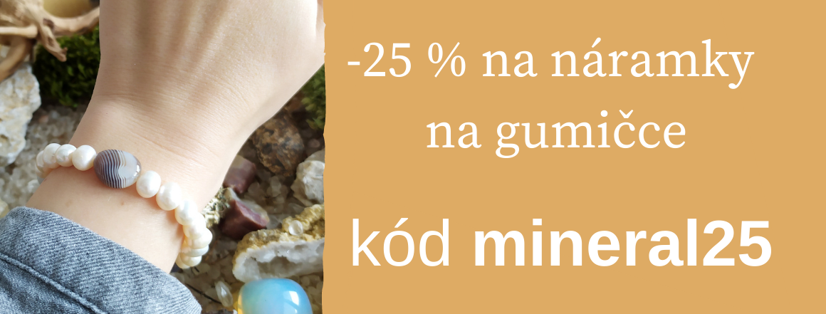 Sleva -25 % na navlékací náramky z minerálů a perel Perlomanie