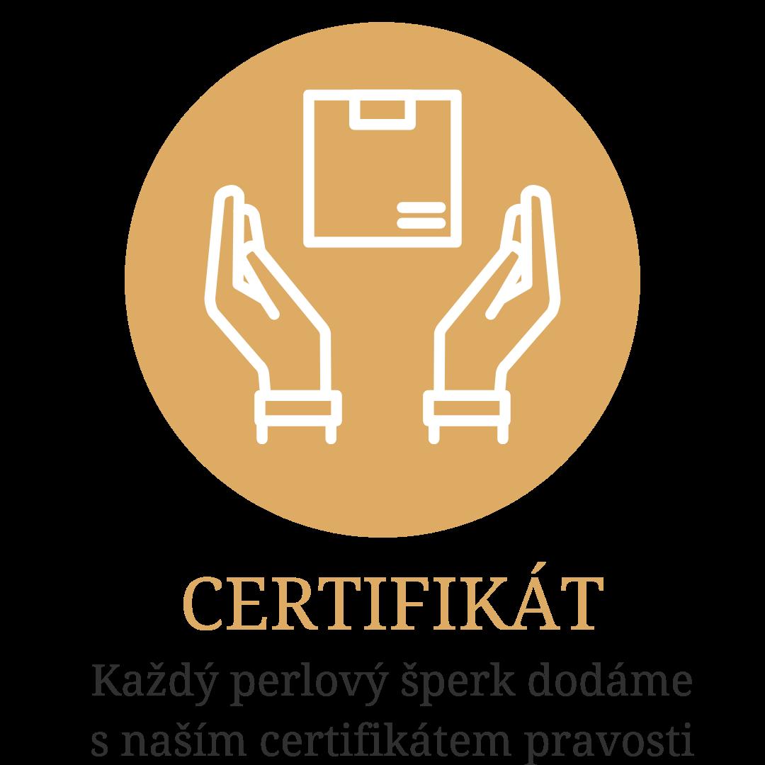 Certifikát pravosti perel Perlomanie