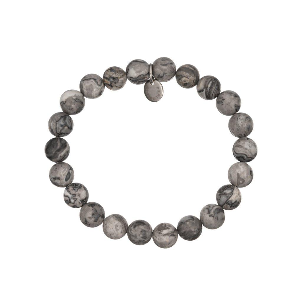 naramek z mineralnich kamenu sedy jaspis mn12052 Perlomanie