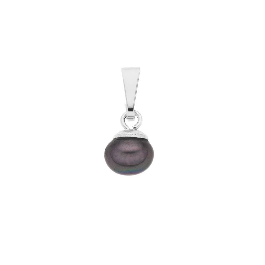 Přívěsek LENA perla AA černá LE853, Perlomanie