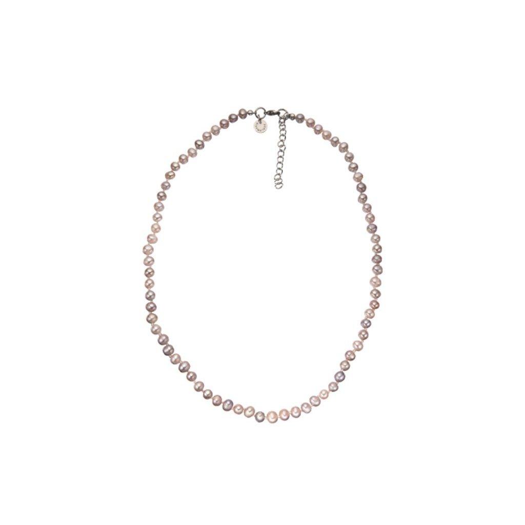 Náhrdelník perly růžové BE126, délka 48 - 53 cm