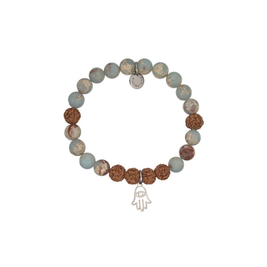 mineralni naramek regalit, rudrksha a privesek ruka fatimy MN12070, Perlomanie