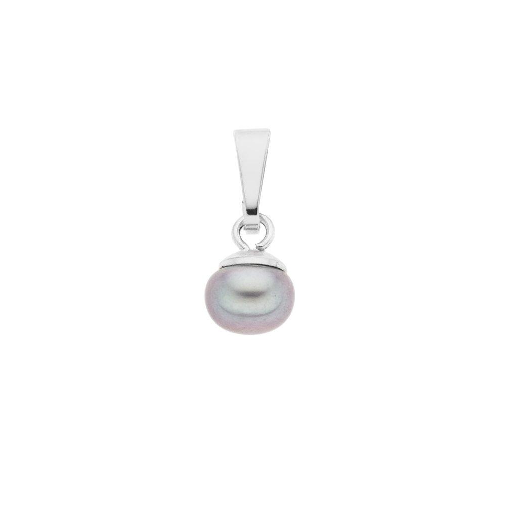 Přívěsek LENA perla AA šedá LE855, Perlomanie
