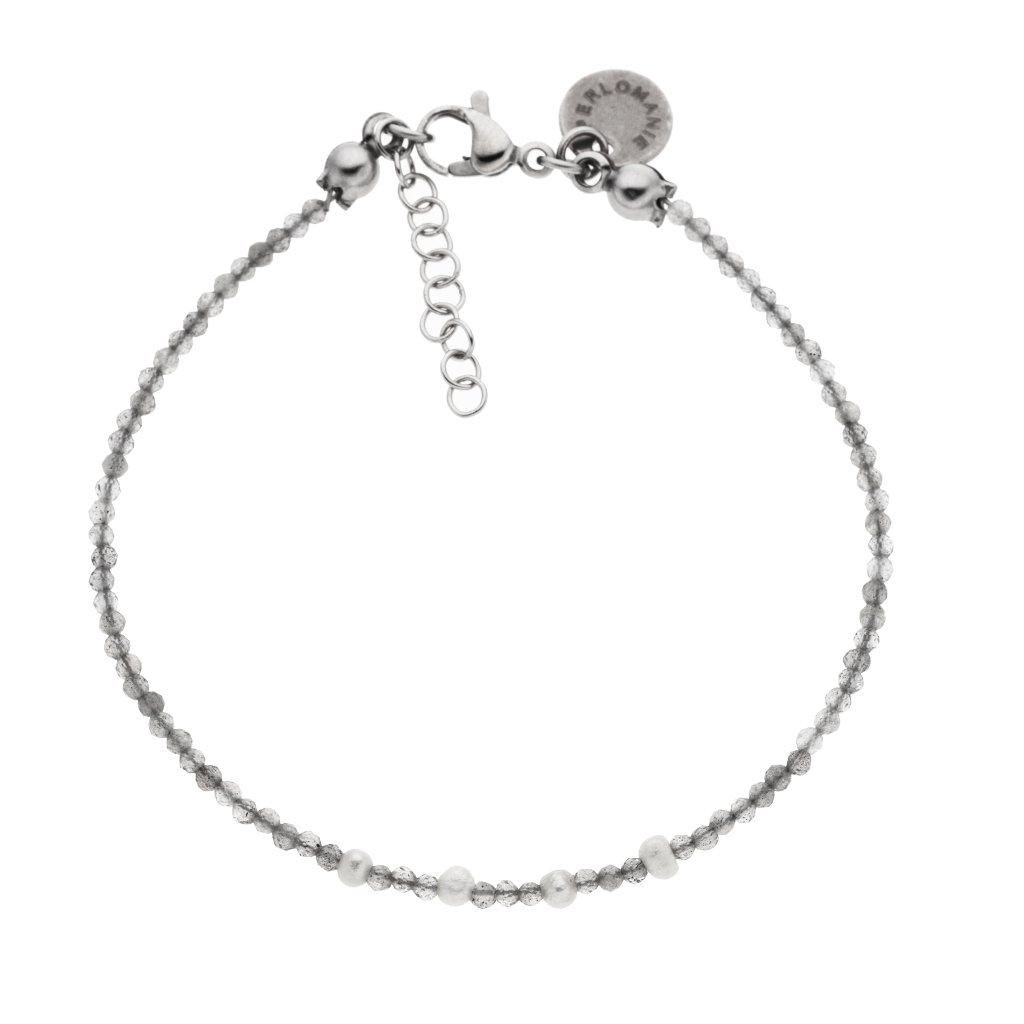 minimalisticky naramek bile perly labradorit LI4010 Perlomanie