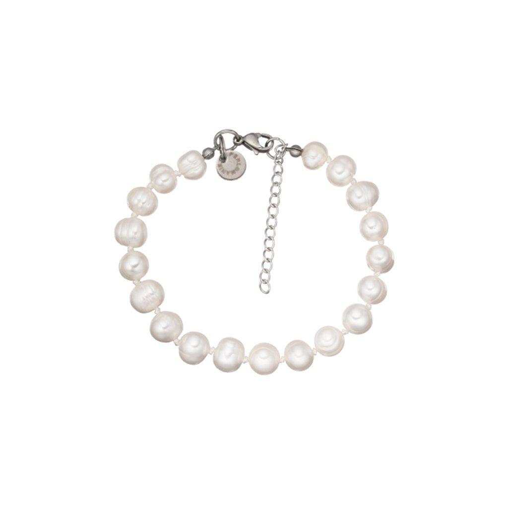 Náramek velké bílé perly LI4511