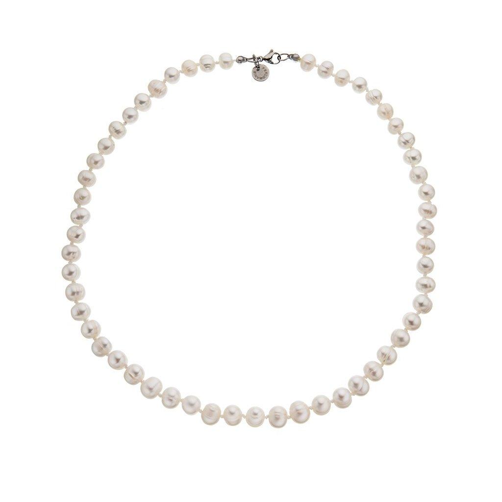 Náhrdelník perly velké bílé BE123, délka 50 cm