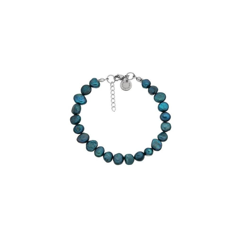 Náramek zelené perly LI4512