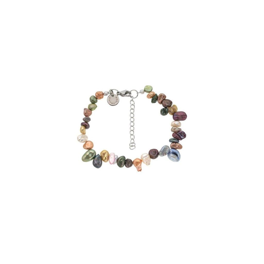 Náramek perly duhové mix barev LI467