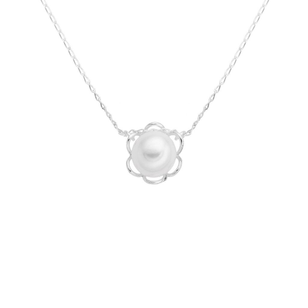 Nahrdeknik ve tvaru kvetiny kytky velka bila perla stribro, Perlomanie
