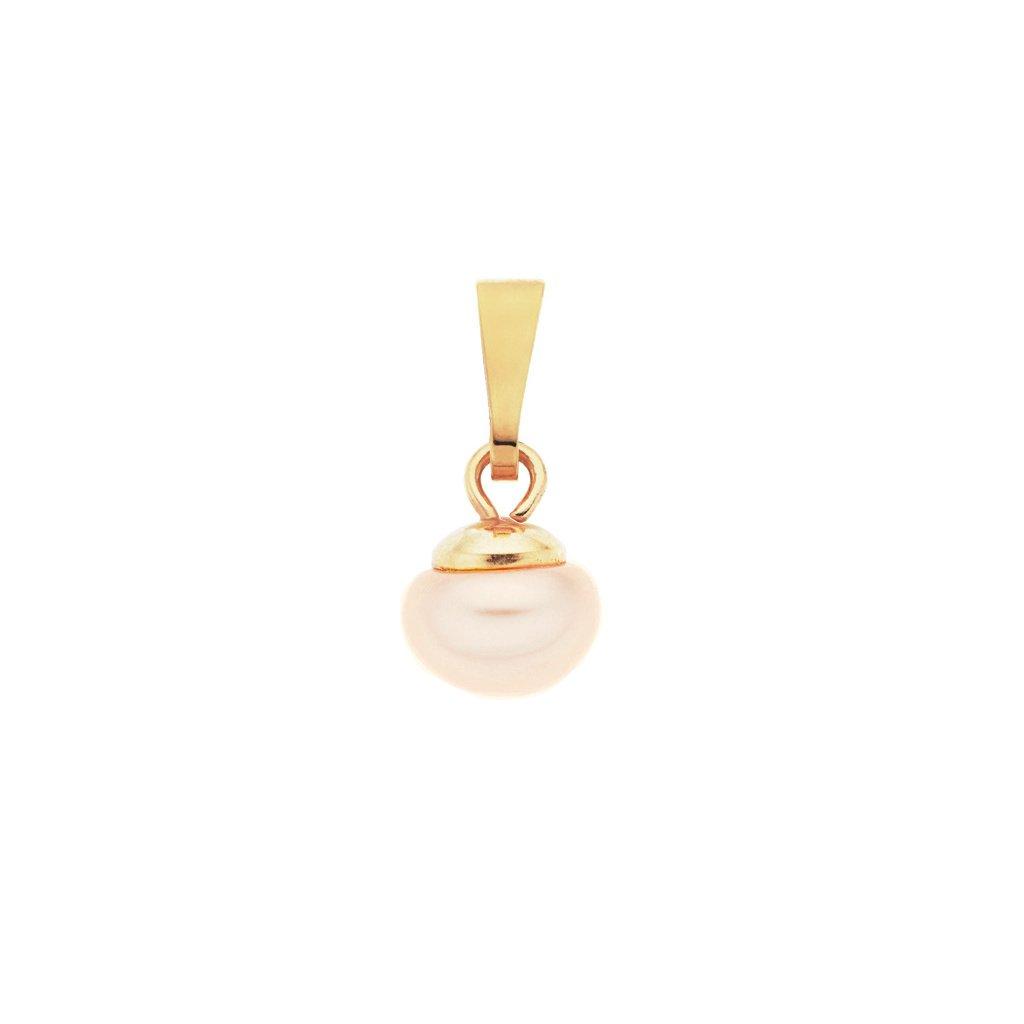 Pozlacený přívěsek LENA perla AA růžová LE804, Perlomanie
