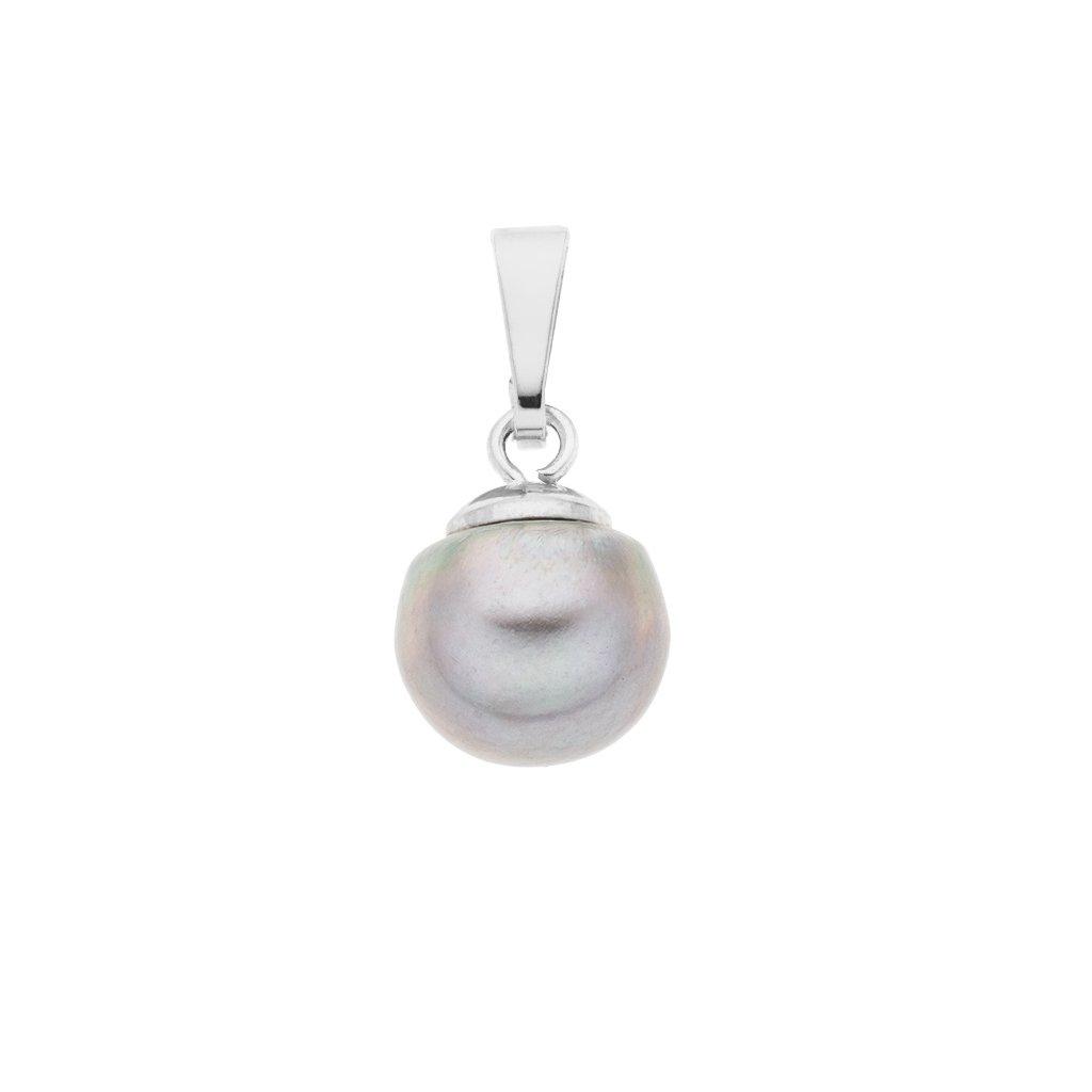 Přívěsek perla AA šedá LE862, Perlomanie