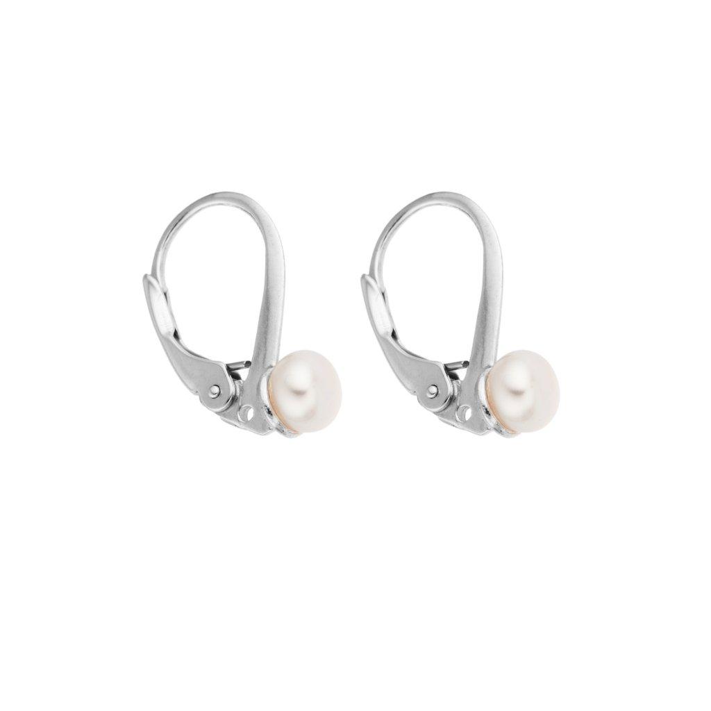 Perlové náušnice NATY perla AA bílá NA403 Perlomanie