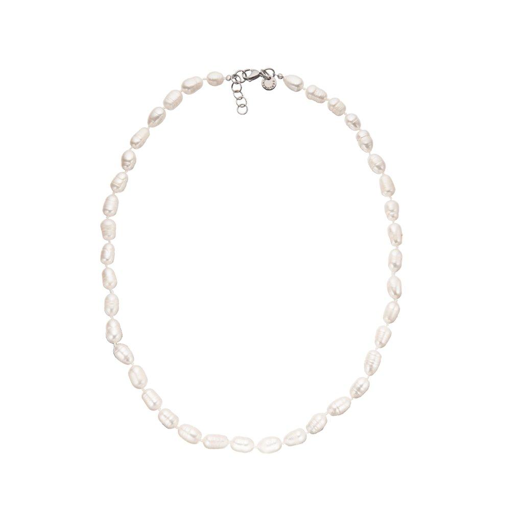 Náhrdelník perly bílé BE113, délka 55 - 58 cm