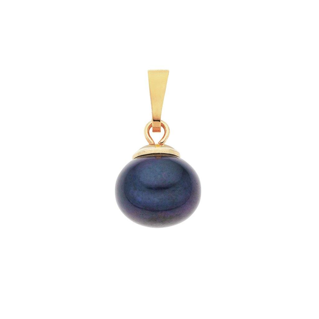Pozlacený přívěsek perla AA tmavá LE830, Perlomanie