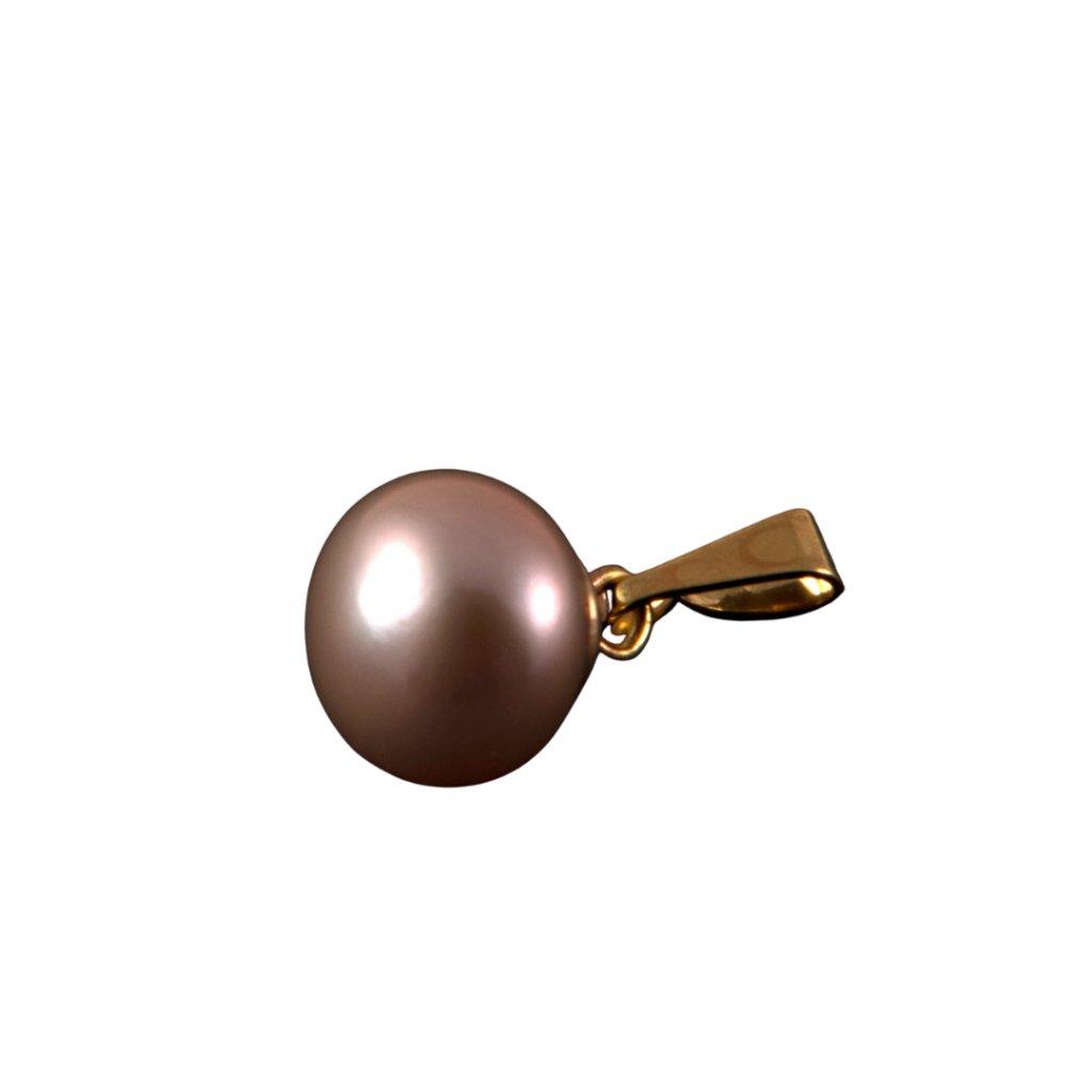 Pozlacený přívěsek perla AA růžová LE833