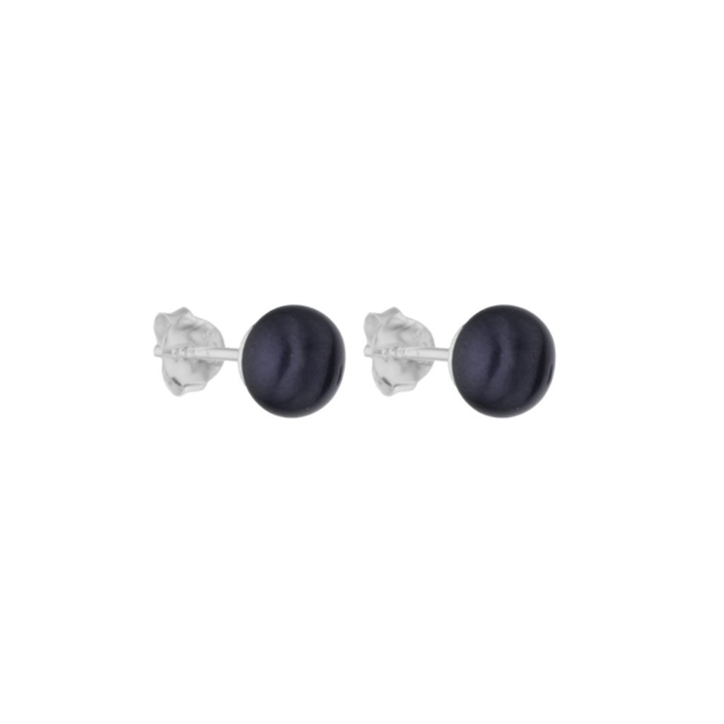 Perlové náušnice ADELE perla AA černá AD101