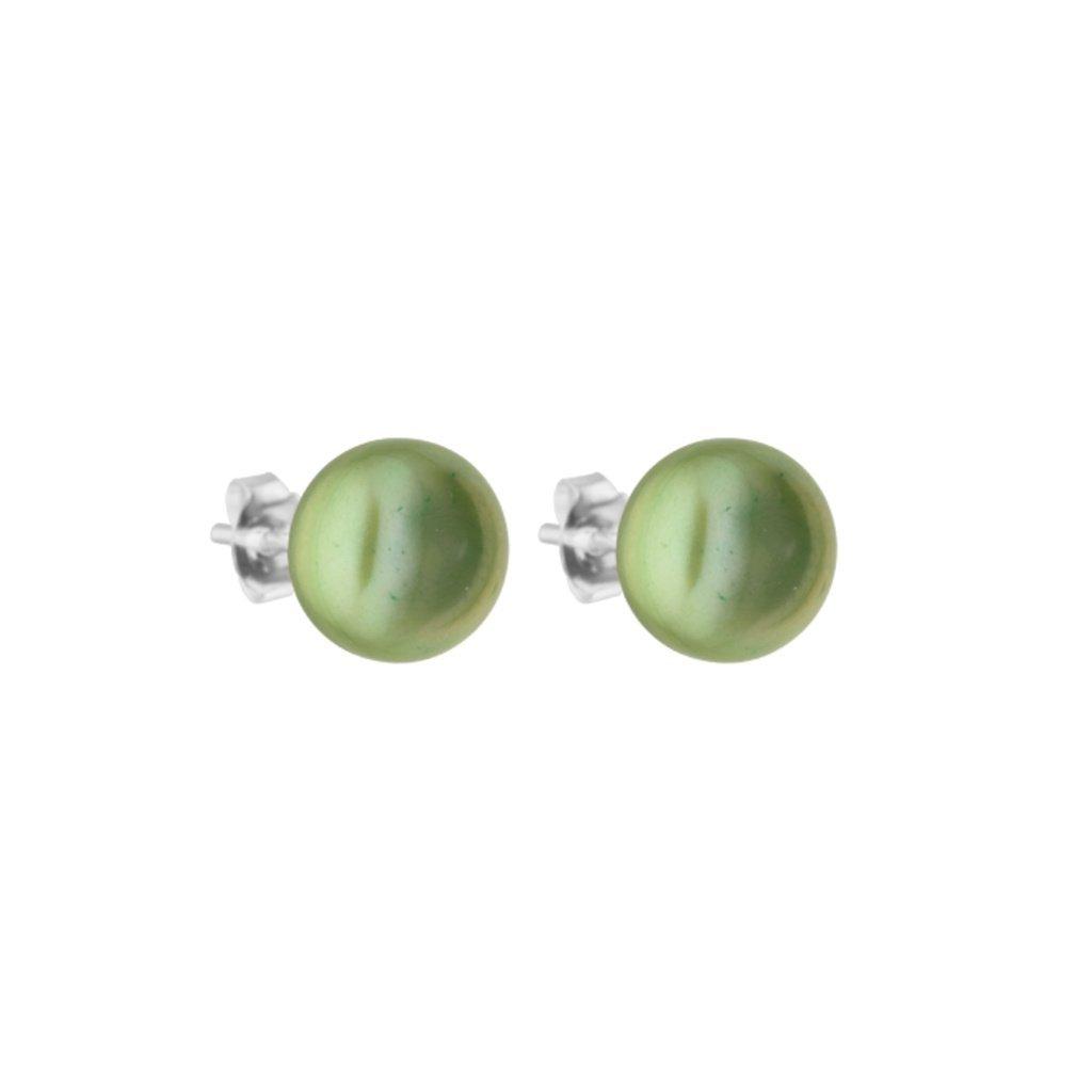 nausnice se zelenymi velkymi perlami AD121 Perlomanie