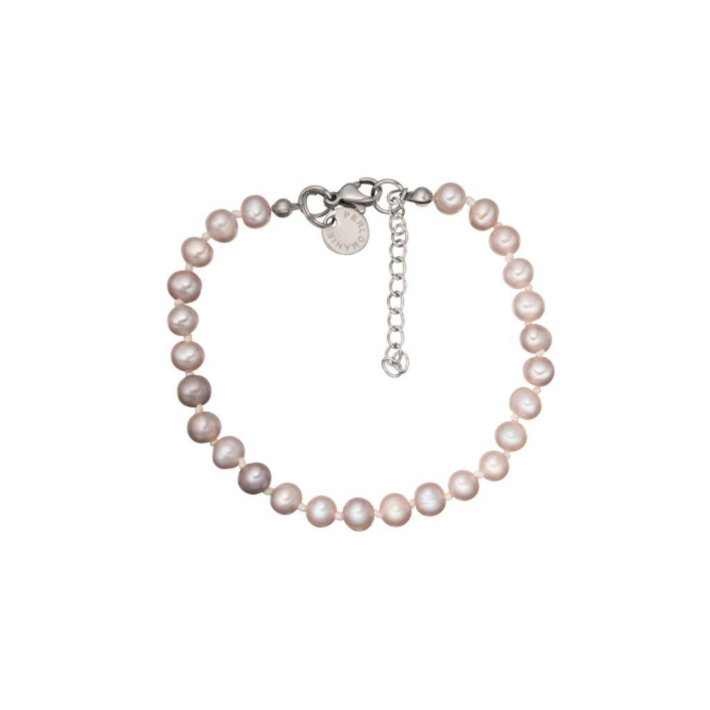 Náramek růžové perly LI454