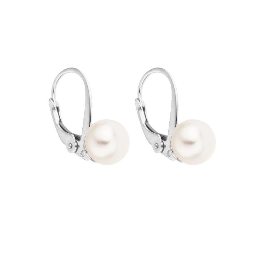Perlové náušnice EMMA perla AA bílá EM303 Perlomanie