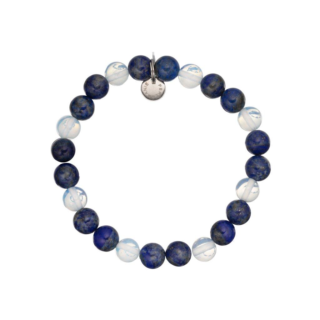 naramek z mineralnich kamenu lapis lazuli, opalit mn12026 Perlomanie