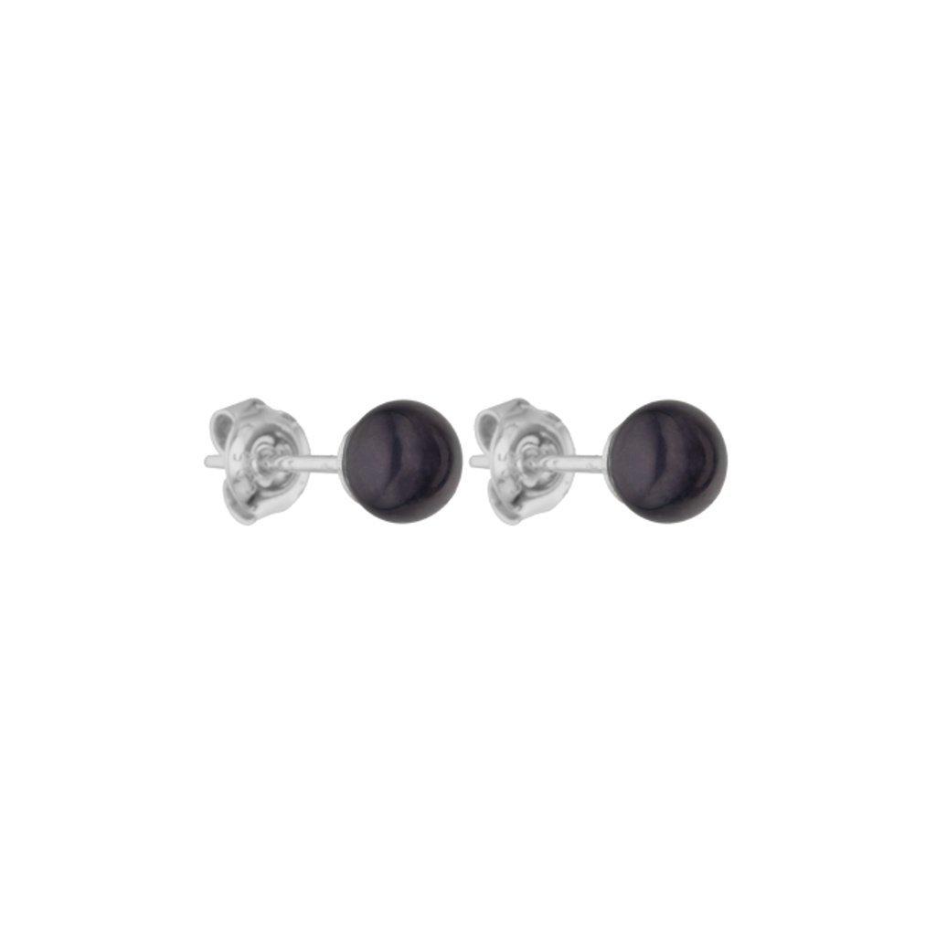 Perlové náušnice ELLA perla AA černá AD171