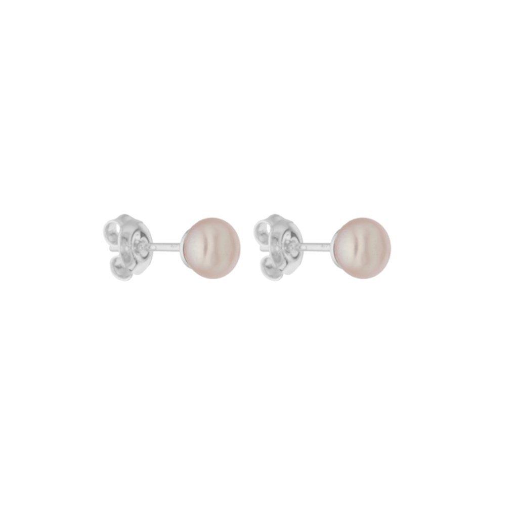Perlové náušnice ELLA perla AA růžová AD173