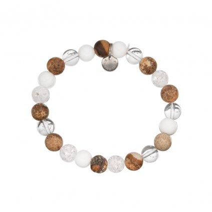 Naramek z mineralu jaspis, kristal a perlet MN12041 Perlomanie