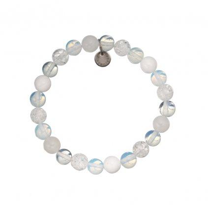 Naramek z mineralnich kamenu kristal, opalit, jadeit MN12057 Perlomanie