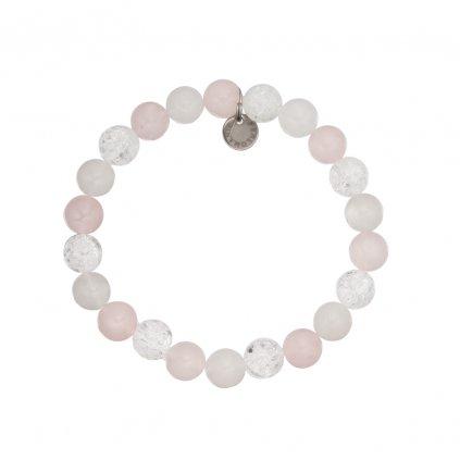 naramek z mineralu praskany kristal, ruzenin, jadeit MN12056 Perlomanie