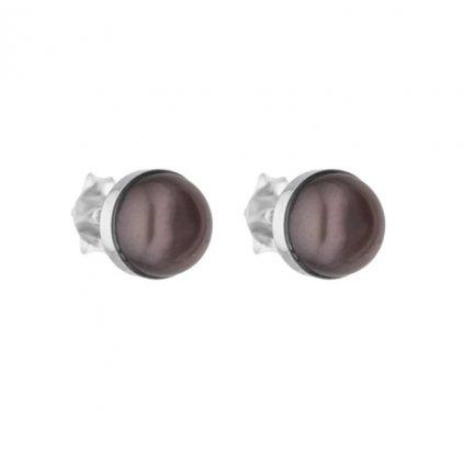 Náušnice EMILY perla černá EY821
