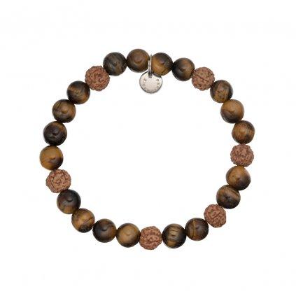 mineralni naramek tygri oko, rudraksha MN12060 Perlomanie