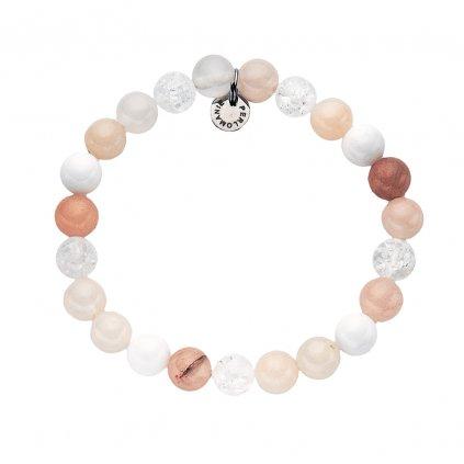 Mineralni naramek avanturin, perlet, praskany kristal MN12077, Perlomanie