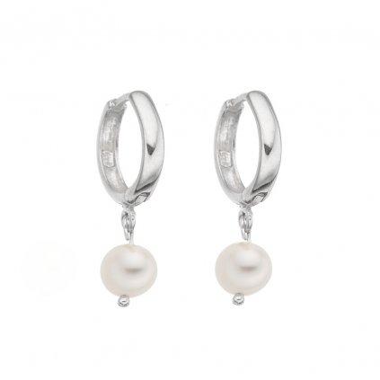 nausnice kruhy bile perly stribrne zapinani perlomanie (6) kopie