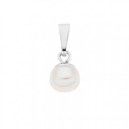 Přívěsek LENA perla AA bílá LE856, Perlomanie