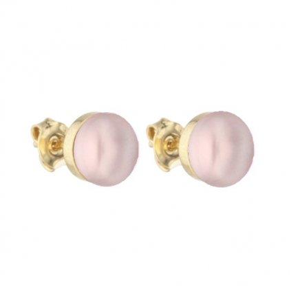 Pozlacené náušnice EMILY perla růžová EY835