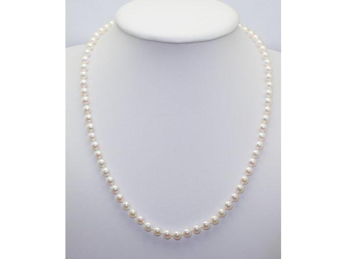 náhrdelník z mořských perel 5-5,5 mm se zlatým uzávěrem