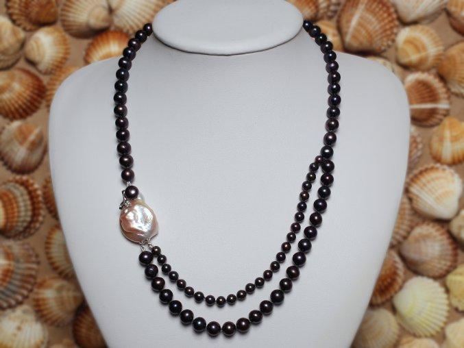 náhrdelník ze sladkovodních perel 4,5-7 mm