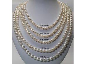 náhrdelník ze sladkovodních perel 5,5-6 mm se stříbrným uzávěrem